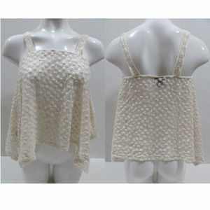 Rue 21 top XS embroidered crochet semi sheer